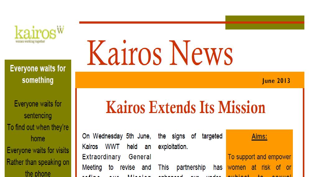 Kairos News June 2013