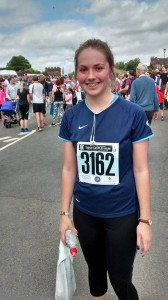 Beth's still smiling after completing the 10k run!